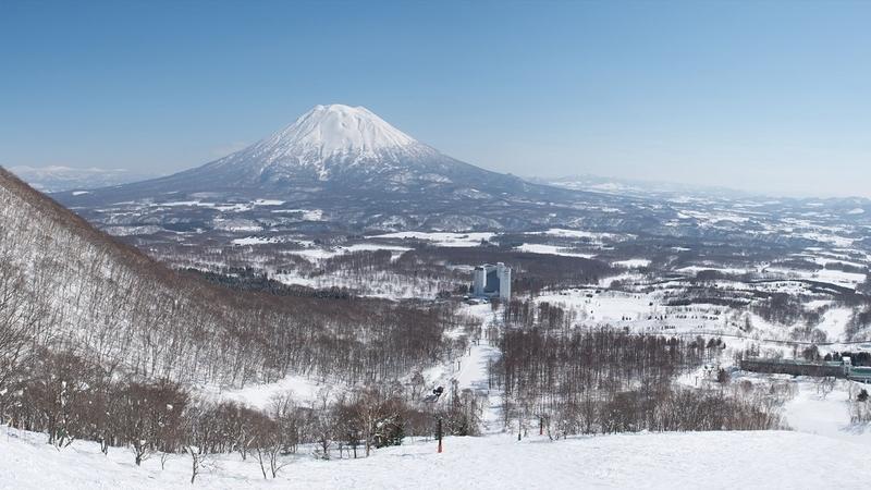 View of Mount Yotei at Niseko Village Hokkaido Japan